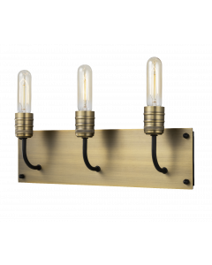 3 Light Bath Bar in Brass