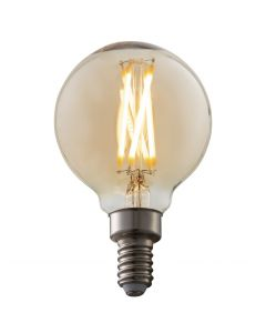 G16.5 DImmable LED Vintage Bulb On
